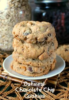 Nut Free Oatmeal Chocolate Chip Cookies has healthier ingredients and the cookies will become a family favorite. Fill up your cookie jar with a classic drop cookie.