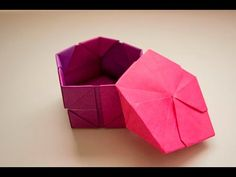 【折り紙 作り方】五角箱 1 ~立体/箱~|DIY-Tutorial 3D Paper Pentagonal Box 1 - YouTube