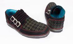 JOHN FLUEVOG Mens Oxfords 9 Black Red Gray Argyle Casual Suede Leather Shoes #JohnFluevog #Oxfords
