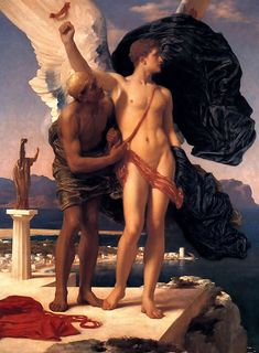 Daedalus and Icarus. Lord Frederick Leighton.
