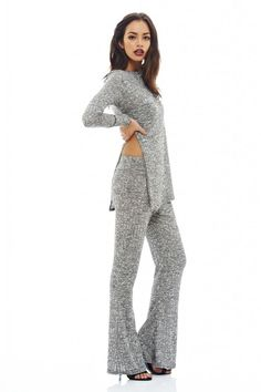 AX Paris Womens Knitted Suit Everyday Party Clothing