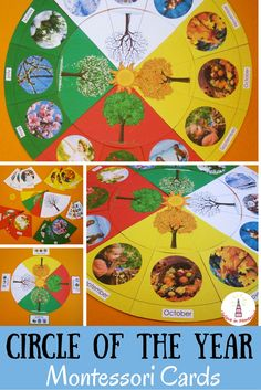 Circle of the Year Montessori Cards *Montessori Seasons and Months Puzzle* is visual and beautiful way to learn about different times of the year. This is a printable set of cards