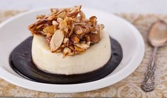 Almond Panna Cotta with Chocolate Sauce - In the Kitchen with Stefano Faita
