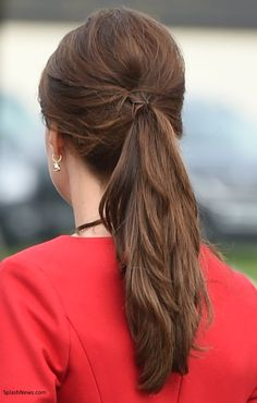 The Duchess wore her hair in a gorgeous ponytail today - it's a great look for her.