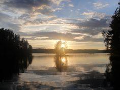 Golden sunset in Finland