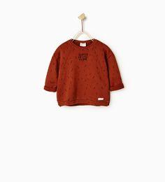 Image 2 of Embroidered sweatshirt from Zara