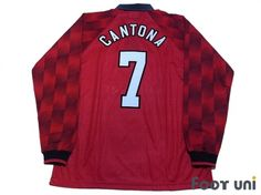 """""""Manchester United 1996-1998 Home #7 Cantona"""" Classic , old clothes , it is the net shop of vintage football shirts(Soccer Jerseys). Assortment of difficult rare item available is also abundant."""