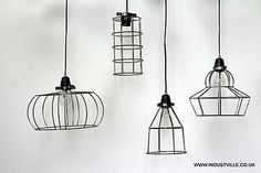 CAGE VINTAGE INDUSTRIAL HANDCRAFTED CAGE WIRE LAMPSHADE CEILING BAR RESTAURANT LIGHTING