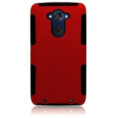 Hybrid Mesh Astronoot Motorola Droid Turbo Case - Red/Black