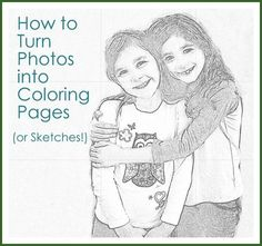 Awesome idea to use a free online tool to turn your photos into coloring pages or sketches.