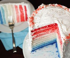 Perfect cake for the 4th of July!