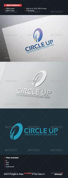 Circle Up Logo Template: Abstract Logo Design Template created by fitranoor. Circle Logo Design, Circle Logos, Logo Design Template, Logo Templates, Graphic Design, Internet Logo, Success, Corporate, Abstract Logo