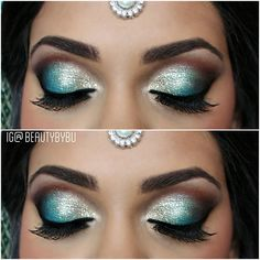 Eye makeup by bushra nazer Beautiful Eye Makeup, Beautiful Eyes, Mysore Silk Saree, Beauty Makeup, Hair Beauty, Eye Makeup Steps, Makeup Step By Step, Make Up, Hair Styles