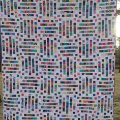 When it comes to bold colors, there is no holding back in this Dots and Dashes Quilt Pattern! The easy quilt pattern is perfect for veteran quilters, as it will make good use of the stash of fabric scraps lingering in the sewing room (hint, hint, hint). This quilt is also perfect for snuggling!
