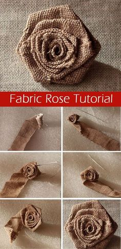 How easy and quick to sew a rose from a fabric or satin ribbon. http://www.free-tutorial.net/2017/04/fabric-rose-tutorial.html #Fabricflowers