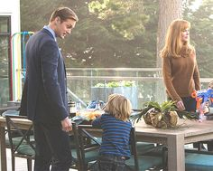 """Variety shared a new pic of Alex and Nicole Kidman filming Big Little Lies on their website today (January 31, 2017): """"We're true to the essence of the book,"""" says Nicole Kidman with Jean-Marc Vallée and co-star Alexander Skarsgard. """"But of course you have to make changes. You can't just shoot a book."""" """"If you can get David Kelley, you should go with David Kelley,"""" she [Reese Witherspoon] explains. """"I think something so interesting with David is that he can write these dramatic scenes with…"""