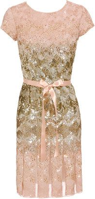Oscar De La Renta Degrade sequin dress