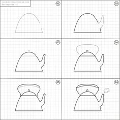 How to draw a kettle.