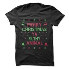 Merry Christmas Ya Filthy Animal - Do you know what that's from? Come check out our awesome holiday shirts!