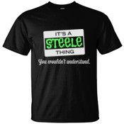 Create your own personalized STEELE T Shirt using our online designer. No minimum order.