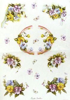 Ricepaper/ Decoupage paper, Scrapbooking Sheets /Craft Paper Vintage Flowers