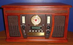 RETRO ITVS-750 AVIATOR 5-IN-1 WOODEN MUSIC CENTER BY INNOVATIVE TECHNOLOGY #InnovateTechnology