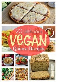 20 Delicious Vegan Quinoa Recipes | Vegan Recipes from Cassie Howard