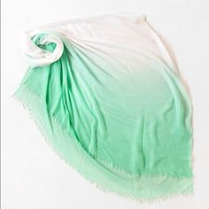 """Bright ombré scarf Price is for 1 scarf.              100% Modal Dimensions- 79"""" x 39"""" Lime Green/ coral / blue / yellow.  ❤️This s and will be marked down to $25 this weekend so lemme know if u want it❤️ Accessories Scarves & Wraps"""