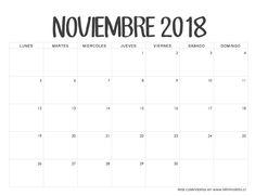Calendario Noviembre 2018 Planner Stickers, Filofax, Diy Calendar, Smash Book, Planner Organization, Happy Planner, Binder, Dyi, Printables