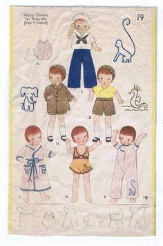 "9.5"" Vintage Year 1932 Doll Pattern No. 19"