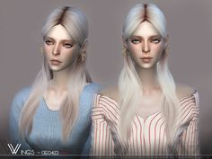WINGS - female OE0423 Hair for The Sims 4