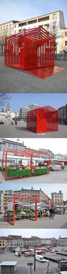 Le Cube Gigogne expandable outdoor structure