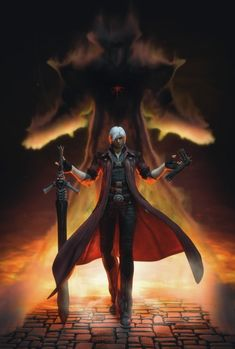 In Fortuna the fabric between us and Inferno is thin Cry Anime, Anime Art, Dante Devil May Cry, Dmc 5, Girls Anime, Demon Hunter, Gaming Wallpapers, Video Game Art, Dark Souls
