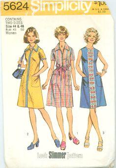 Simplicity 5624 - Women's Plus Size Look Slimmer A-Line Dress – Serendipity Vintage