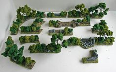 It consists of over8 1/2 feet of resin bocage and provides you with irregular shapes with which to make your hedgerows more unique. The photographs are there to show a representation of what you will receive. | eBay!
