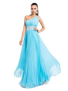 TS+Couture+Formal+Evening+/+Prom+/+Military+Ball+/+Wedding+Party+Dress+-+Pool+Plus+Sizes+/+Petite+Sheath/Column+One+Shoulder+Floor-length+Chiffon+-+AUD+$114.39