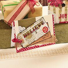 DIY Believe Christmas Card Idea - OrientalTrading.com