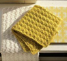 New eco-knitted dishcloths - susanne-gustafsson. Dishcloth Knitting Patterns, Knit Dishcloth, Knitting Charts, Knitting Stitches, Knit Patterns, Free Knitting, Crochet Home, Knit Crochet, Lader