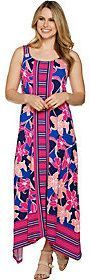 C. Wonder As Is Petite Printed Handkerchief Maxi Dress