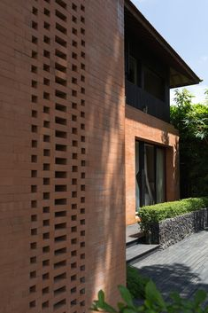 Brick Crafts, Slow Design, Two Storey House, Path Design, Tadelakt, Concrete Structure, Rural Area, Balinese, Humble Abode