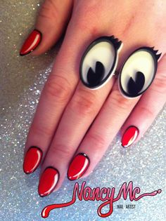 Love the nails and the rings!