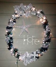 Hula Hoop Christmas Wreath