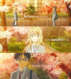 """Karunase — """"Autumn show us how beautiful it is to let things..."""