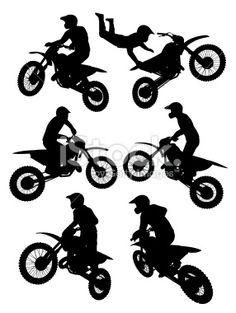 Motocross Royalty Free Stock Vector Art Illustration