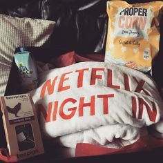 Might have to do a Netflix night in at mine .... This blanket is huge! Just glad it doesn't say that other well know Netflix saying on it #streamteam @netflixuk #netflixnightin