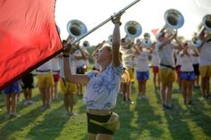Phantom Regiment Drum and Bugle Corps 2012 Color Guard Spring Training
