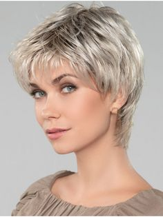 Get your favorite Straight Short Capless Affordable Grey Wigs at lowest price possible. New arrivals and trendy wigs. Super Short Hair, Short Grey Hair, Short Straight Hair, Short Hair With Layers, Short Hair Cuts For Women, Short Hairstyles For Women, Short Hair Styles, Undercut Hairstyles, Pixie Hairstyles