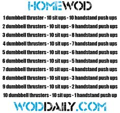 Tuesday 130910 - Home WOD by woddaily.com