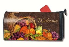 MailWraps Thanksgiving Harvest Mailbox Cover 01022 MailWraps