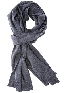 Patrol Knit Scarf - Grey - A luxurious and classic scarf for your warmth and styling needs. Jersey knit with rib trim at both ends and edges of scarf. - 100% Merino Wool. - Length: 80 inches 18.5 inches. - Imported.